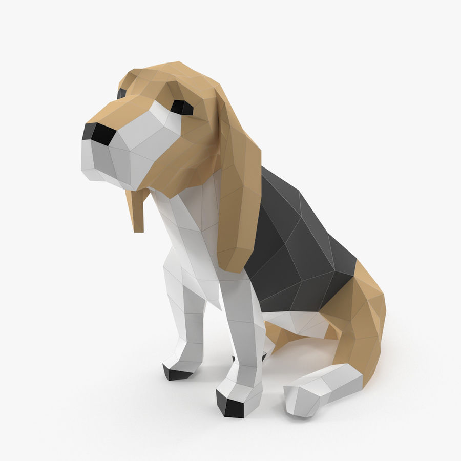 Dog Paper royalty-free 3d model - Preview no. 1