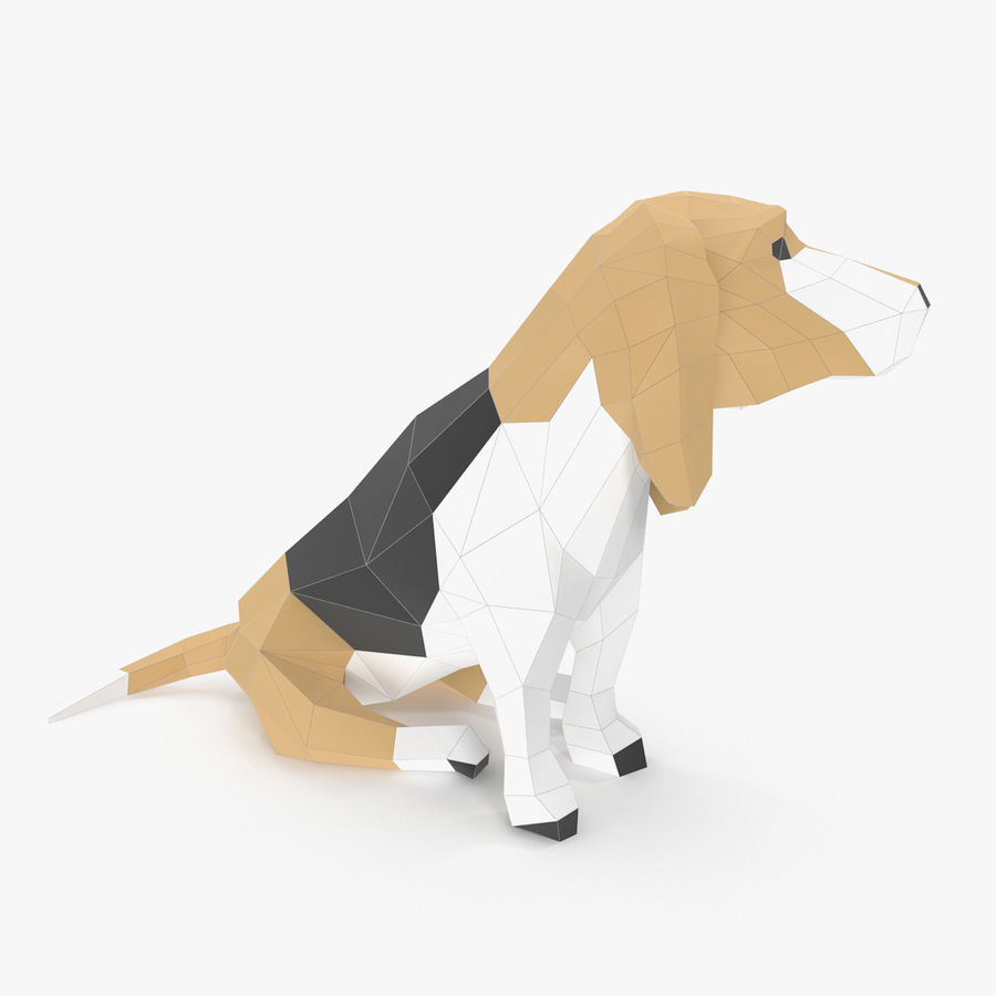 Dog Paper royalty-free 3d model - Preview no. 2
