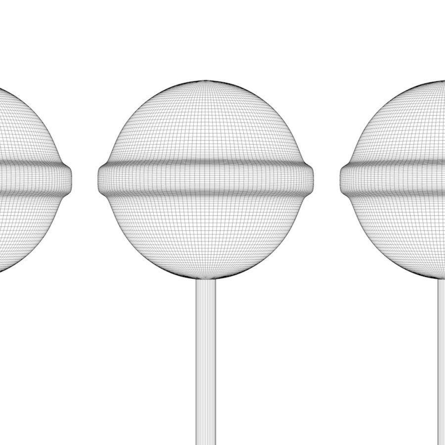 Lollipop Candy royalty-free 3d model - Preview no. 9