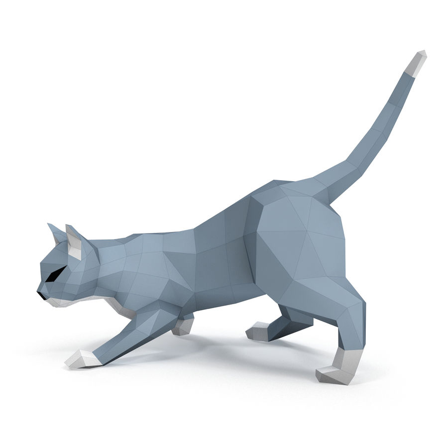 Hunting Cat Paper royalty-free 3d model - Preview no. 1
