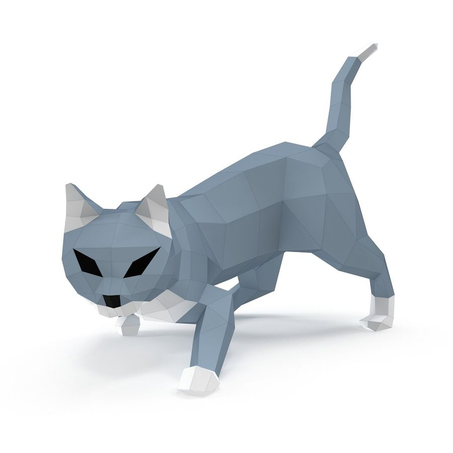 Hunting Cat Paper royalty-free 3d model - Preview no. 2