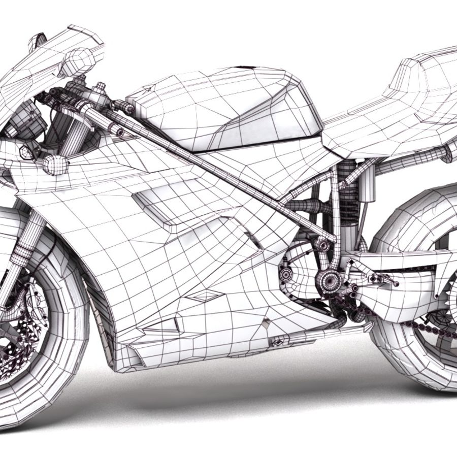 Ducati 748 royalty-free 3d model - Preview no. 6
