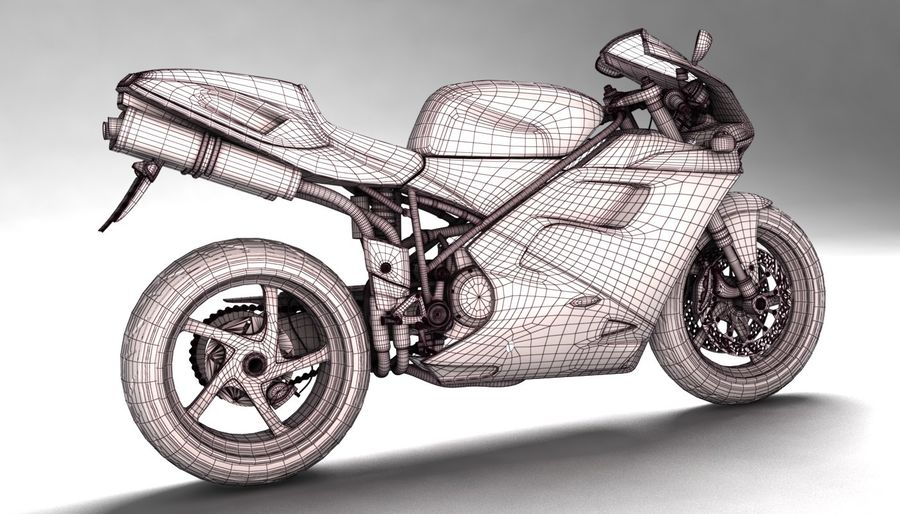 ducati 748 royalty-free 3d model - Preview no. 10