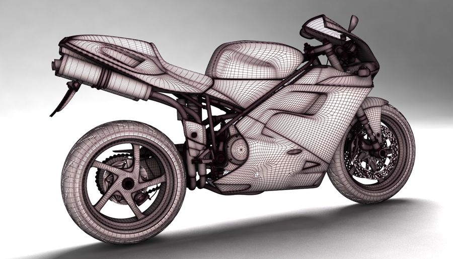 ducati 748 royalty-free 3d model - Preview no. 11