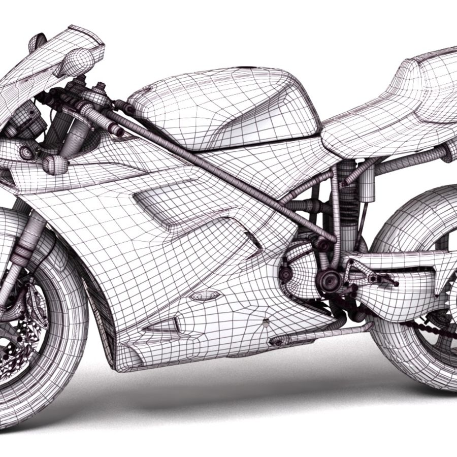Ducati 748 royalty-free 3d model - Preview no. 7