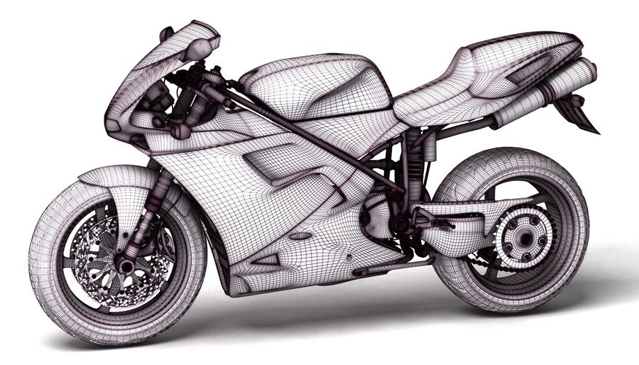 ducati 748 royalty-free 3d model - Preview no. 8