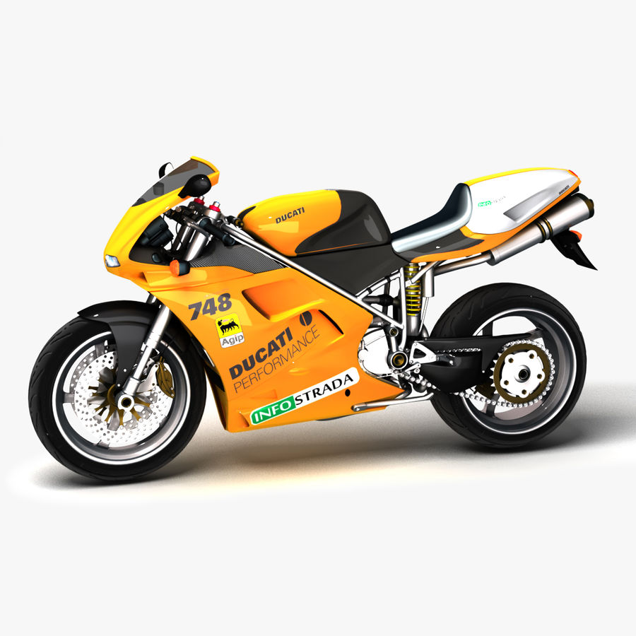 Ducati 748 royalty-free 3d model - Preview no. 1