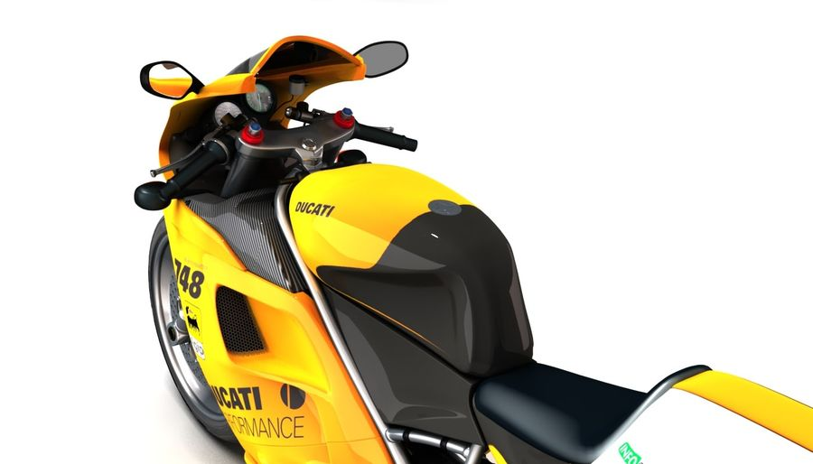 ducati 748 royalty-free 3d model - Preview no. 4