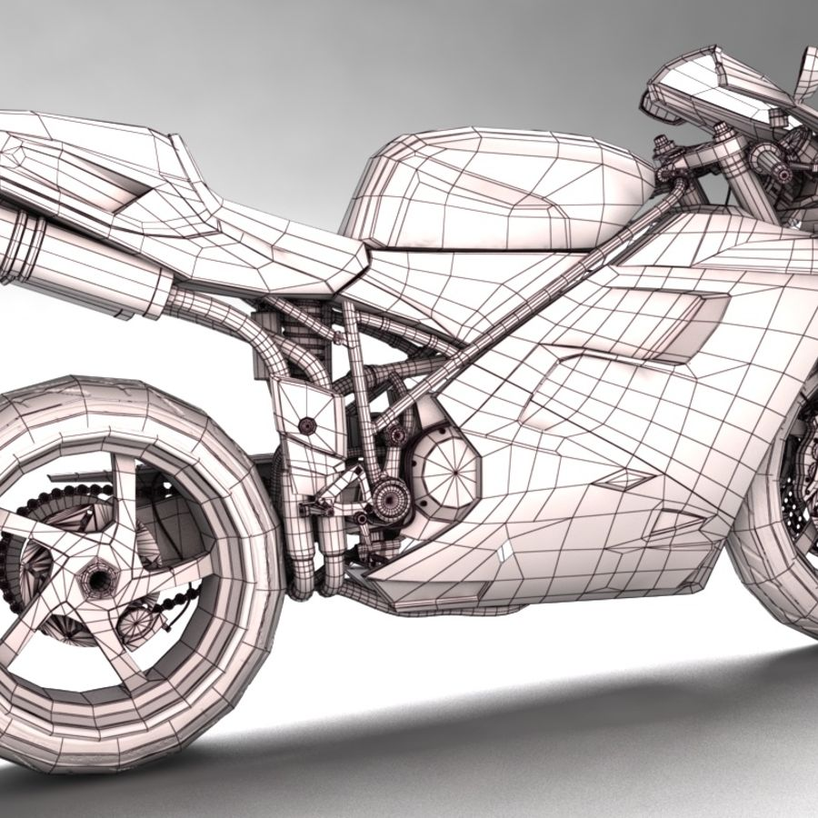 Ducati 748 royalty-free 3d model - Preview no. 9