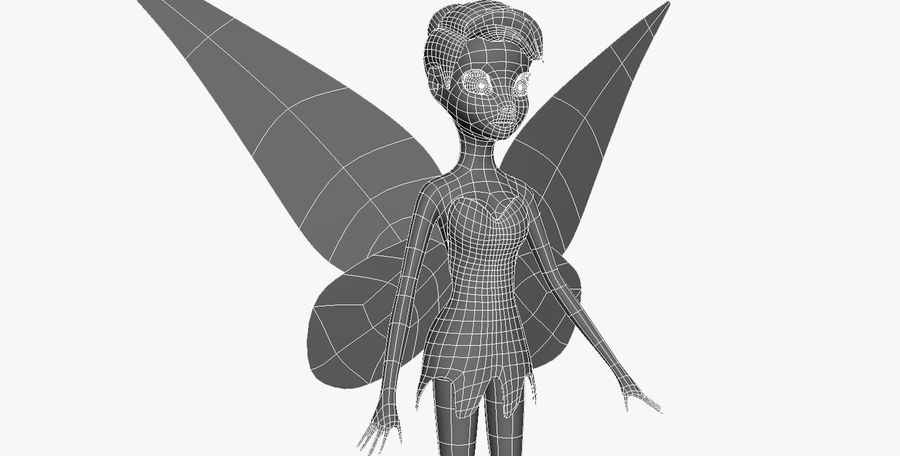 Tinker Bell royalty-free 3d model - Preview no. 10