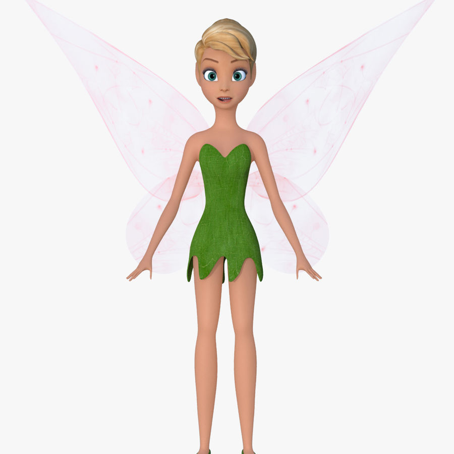 Tinker Bell royalty-free 3d model - Preview no. 1