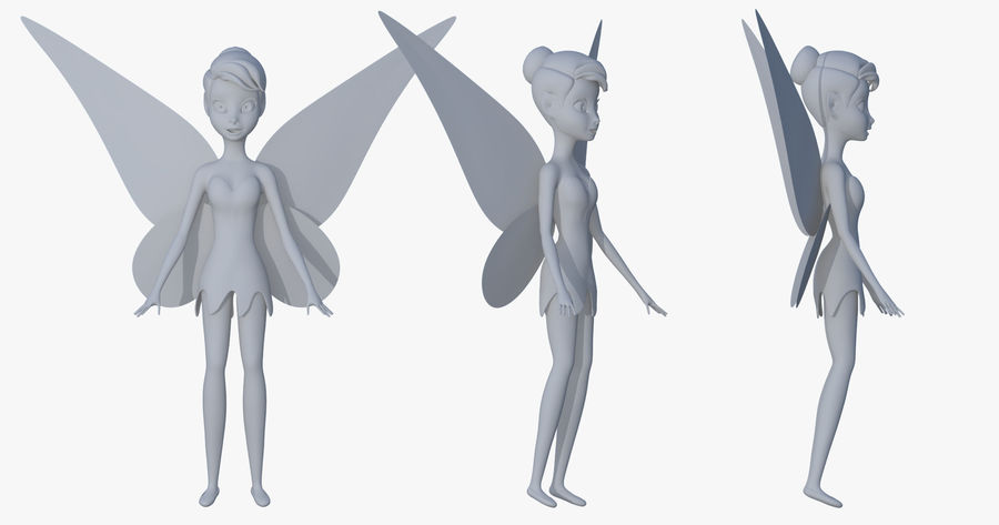 Tinker Bell royalty-free 3d model - Preview no. 8