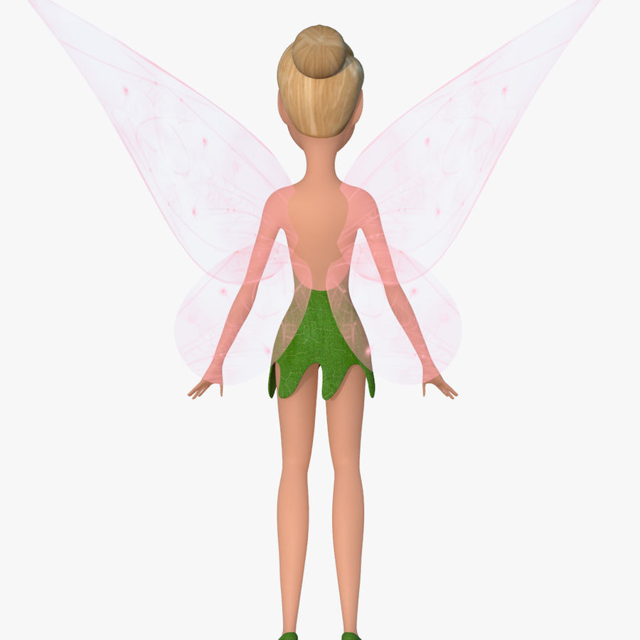 Tinker Bell royalty-free 3d model - Preview no. 3
