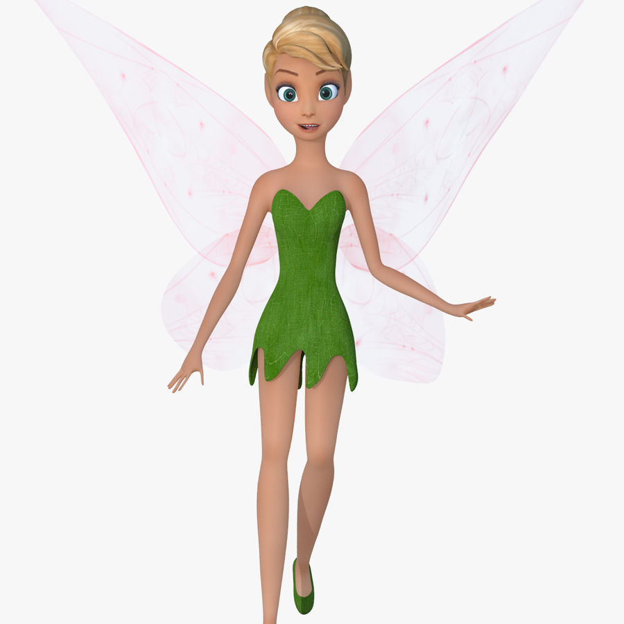 Tinker Bell royalty-free 3d model - Preview no. 7