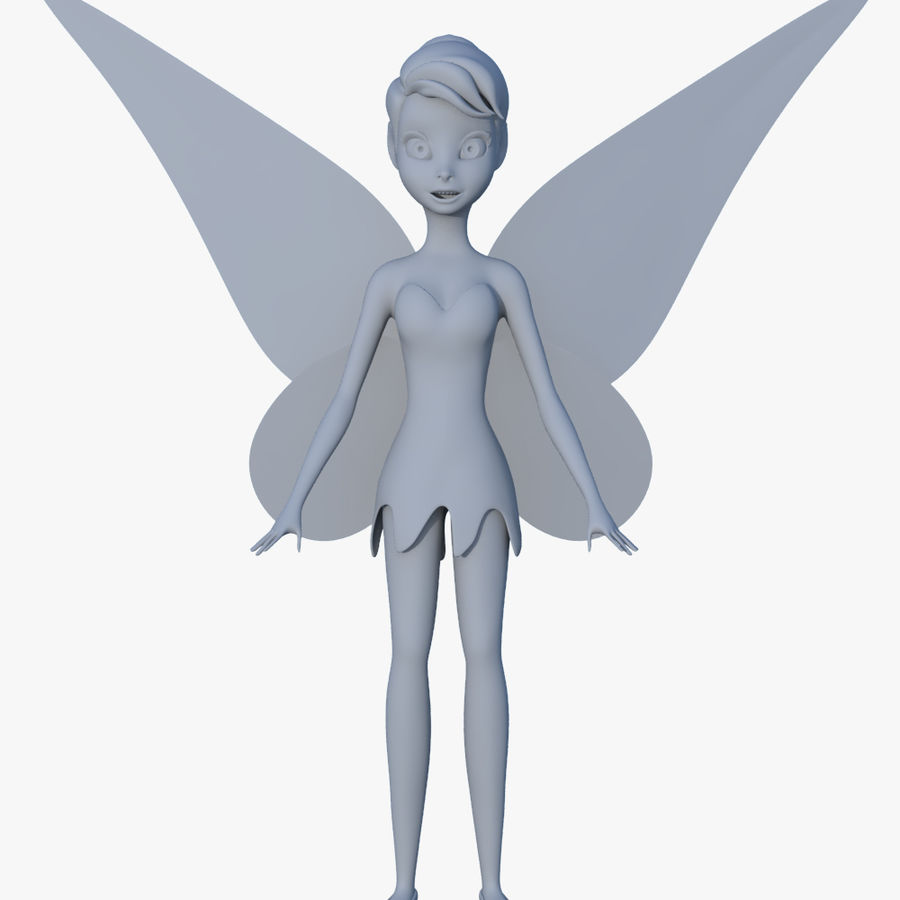 Tinker Bell royalty-free 3d model - Preview no. 4