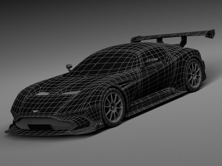 Aston Martin Vulcan 2016 royalty-free 3d model - Preview no. 15