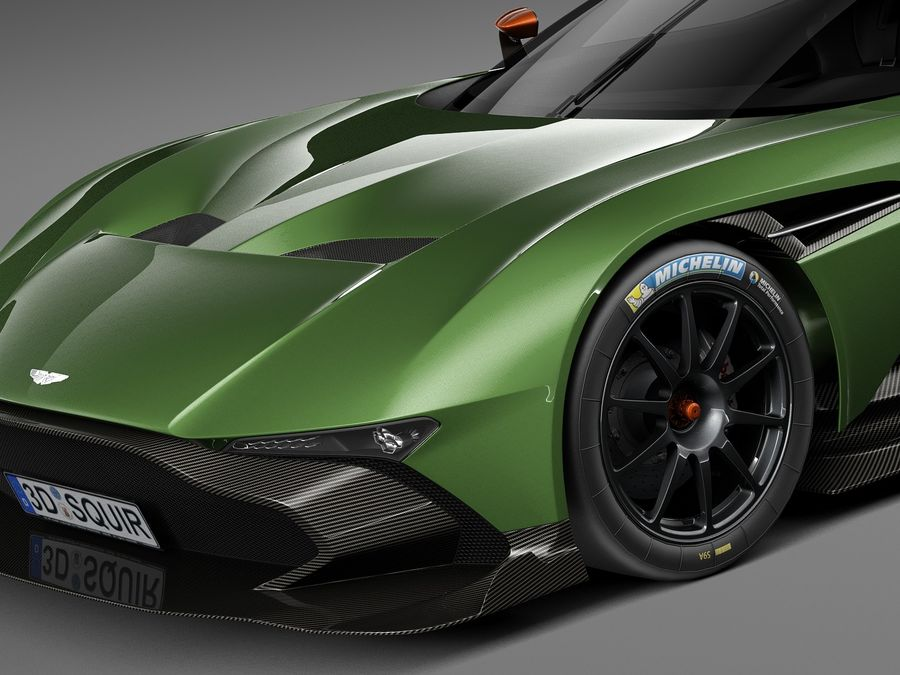 Aston Martin Vulcan 2016 royalty-free 3d model - Preview no. 3
