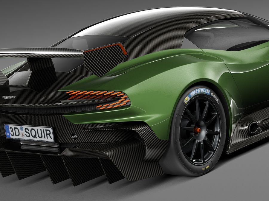 Aston Martin Vulcan 2016 royalty-free 3d model - Preview no. 4