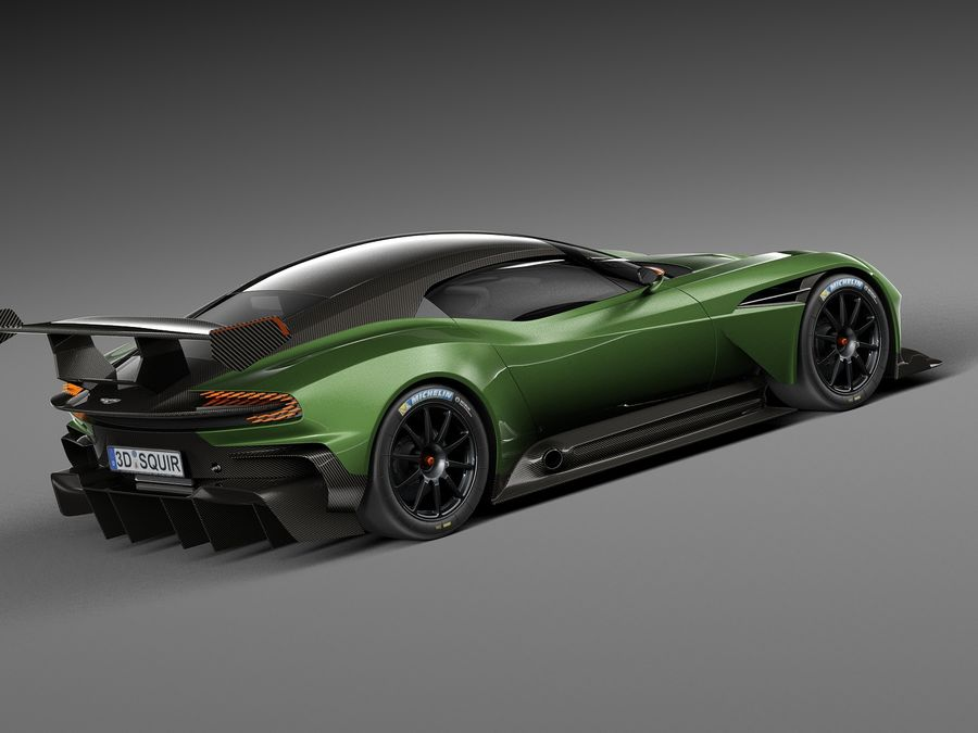 Aston Martin Vulcan 2016 royalty-free 3d model - Preview no. 5