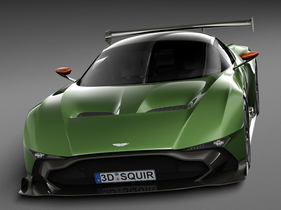 Aston Martin Vulcan 2016 royalty-free 3d model - Preview no. 2