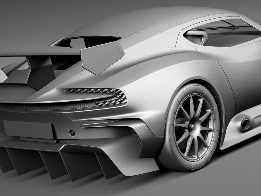 Aston Martin Vulcan 2016 royalty-free 3d model - Preview no. 11