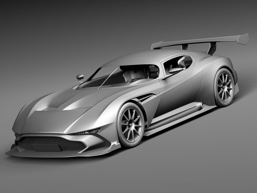 Aston Martin Vulcan 2016 royalty-free 3d model - Preview no. 9
