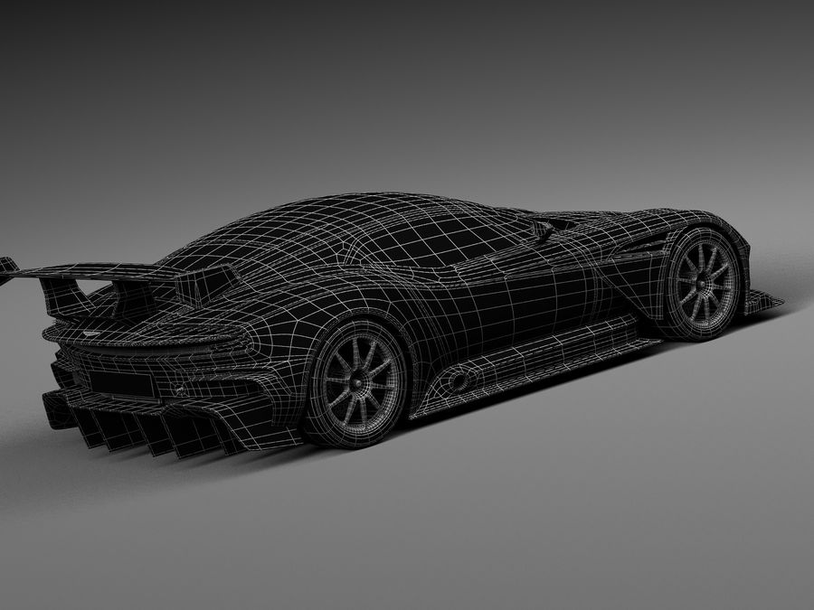 Aston Martin Vulcan 2016 royalty-free 3d model - Preview no. 16