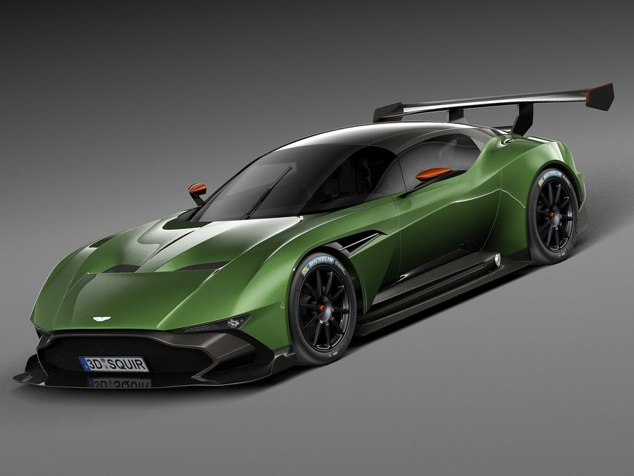 Aston Martin Vulcan 2016 royalty-free 3d model - Preview no. 1