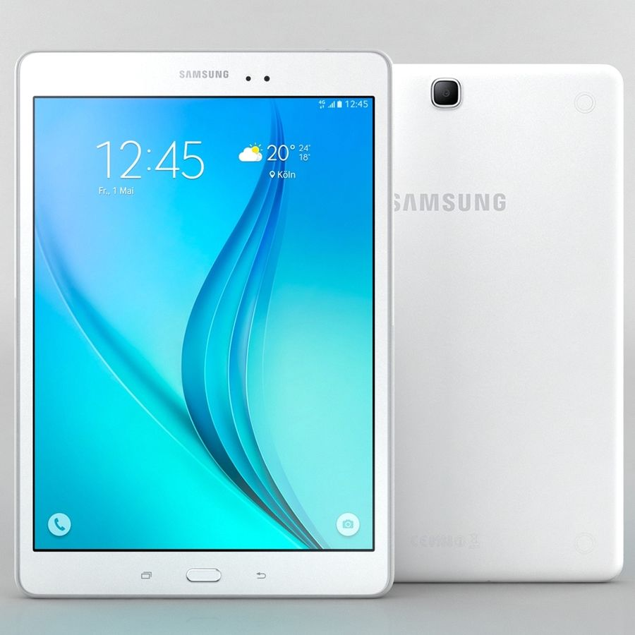 三星Galaxy Tab A 9.7 royalty-free 3d model - Preview no. 4