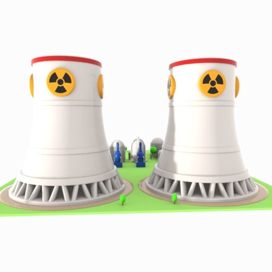 Cartoon Nuclear Power Plant royalty-free 3d model - Preview no. 10