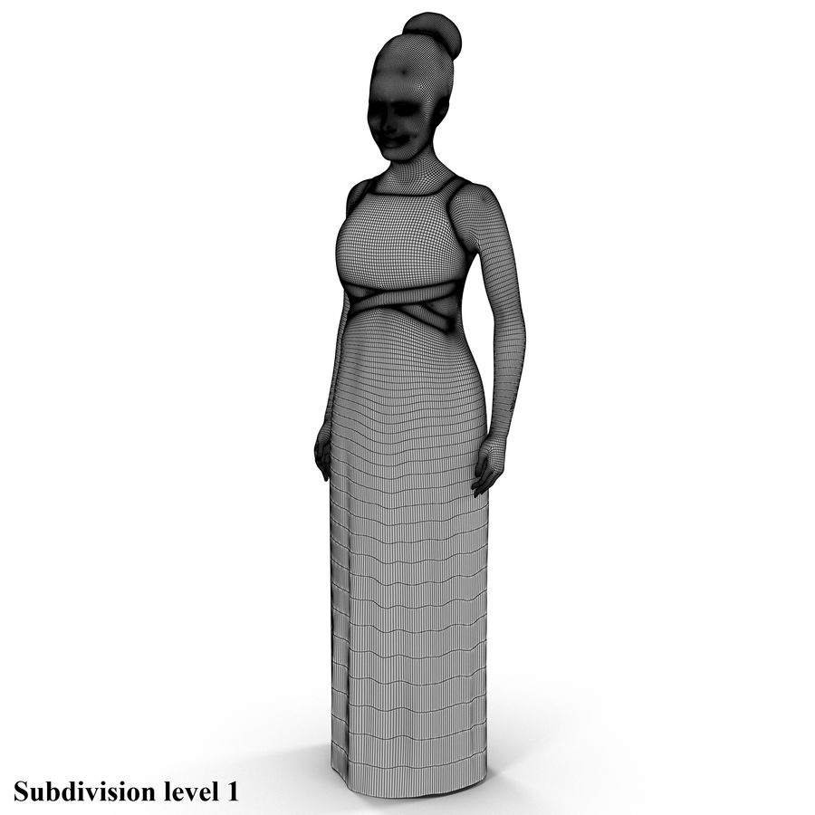 beautiful girl 001 royalty-free 3d model - Preview no. 4