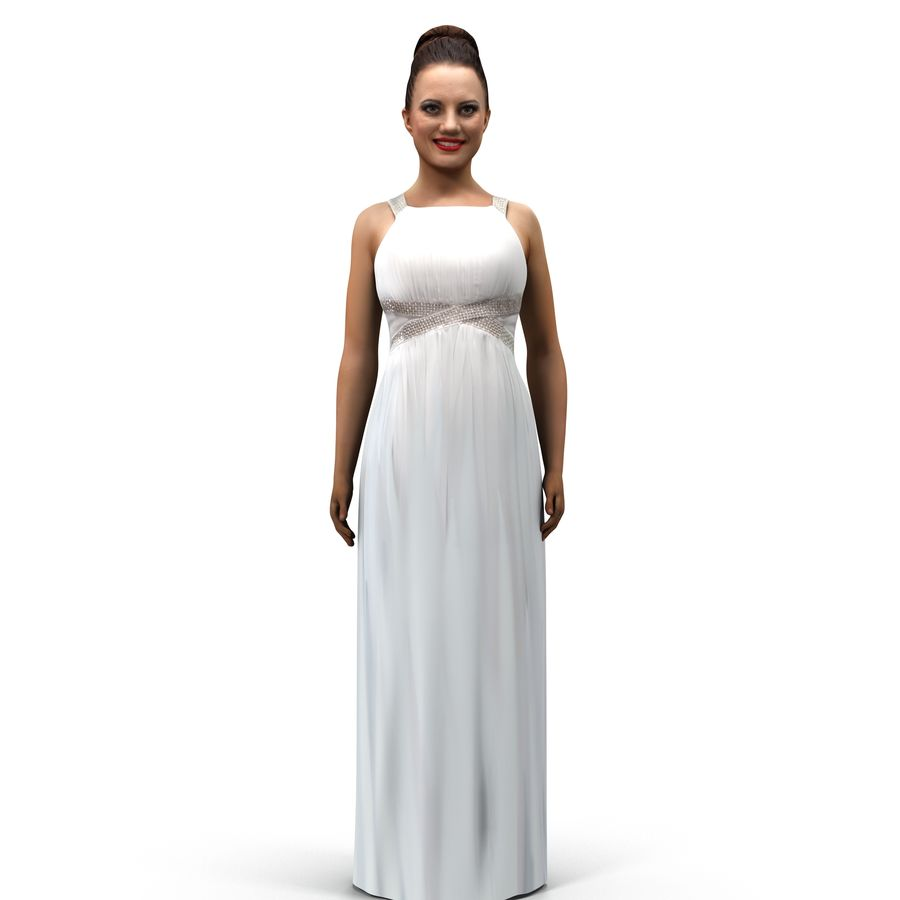 beautiful girl 001 royalty-free 3d model - Preview no. 10