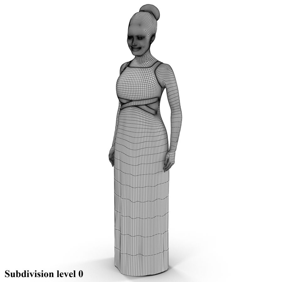 beautiful girl 001 royalty-free 3d model - Preview no. 3