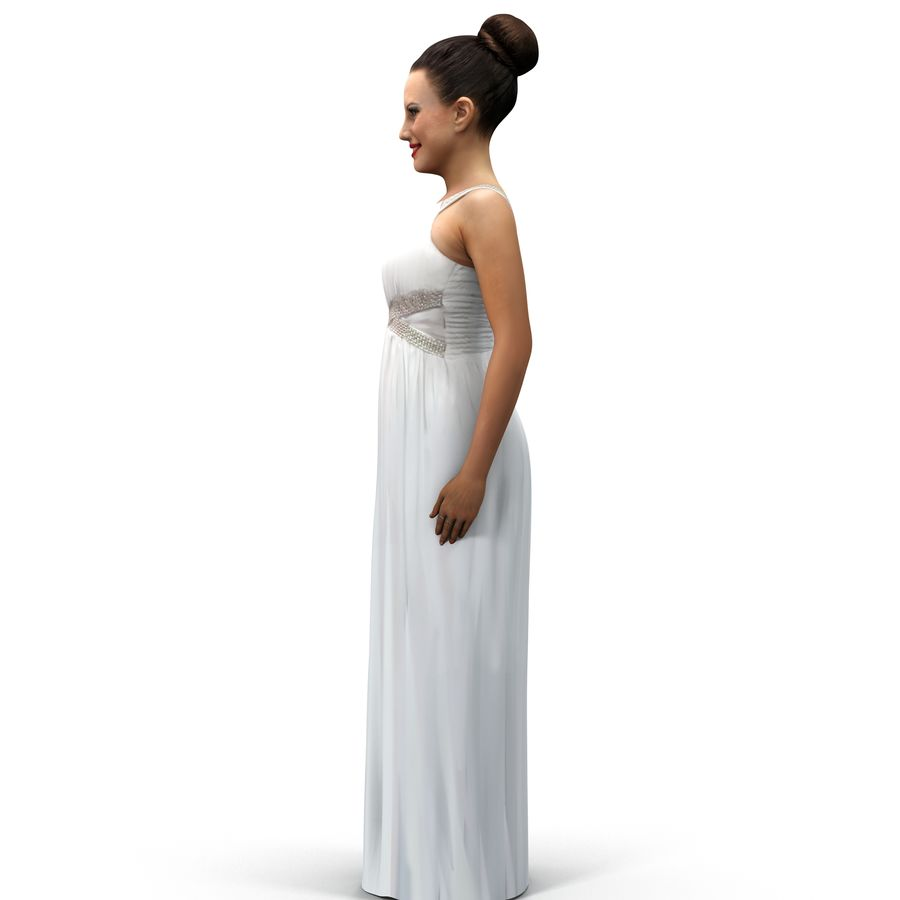 beautiful girl 001 royalty-free 3d model - Preview no. 11
