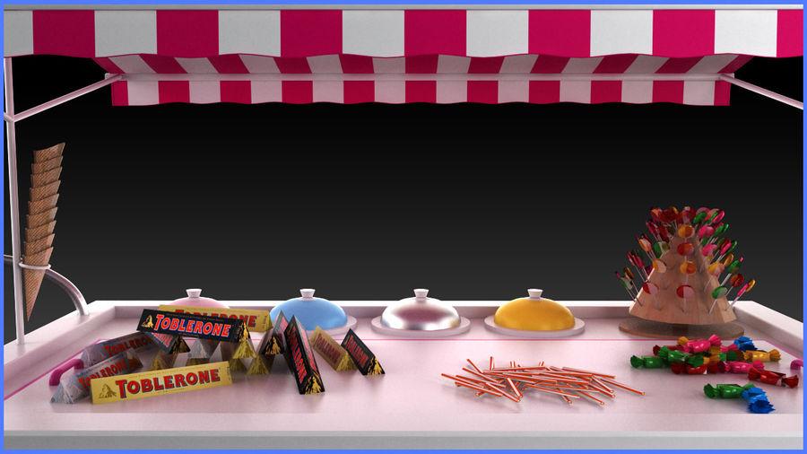 Carrinho de doces royalty-free 3d model - Preview no. 3