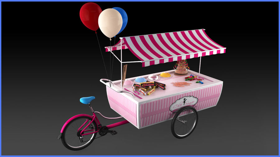 Carrinho de doces royalty-free 3d model - Preview no. 2