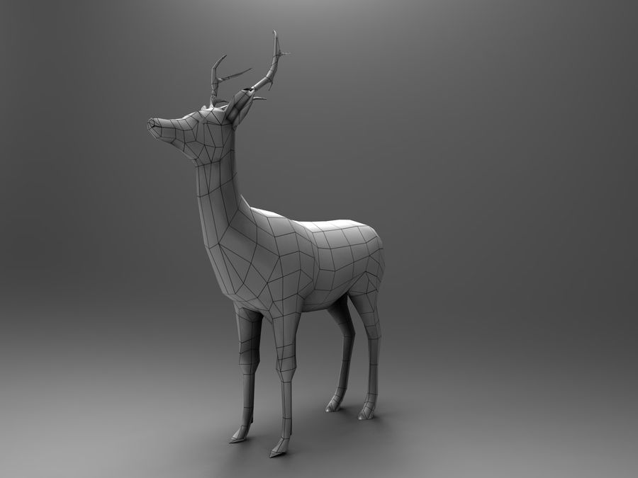 Hirsch royalty-free 3d model - Preview no. 22