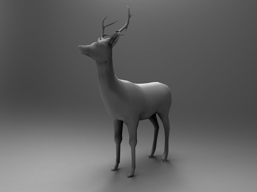 Hirsch royalty-free 3d model - Preview no. 23