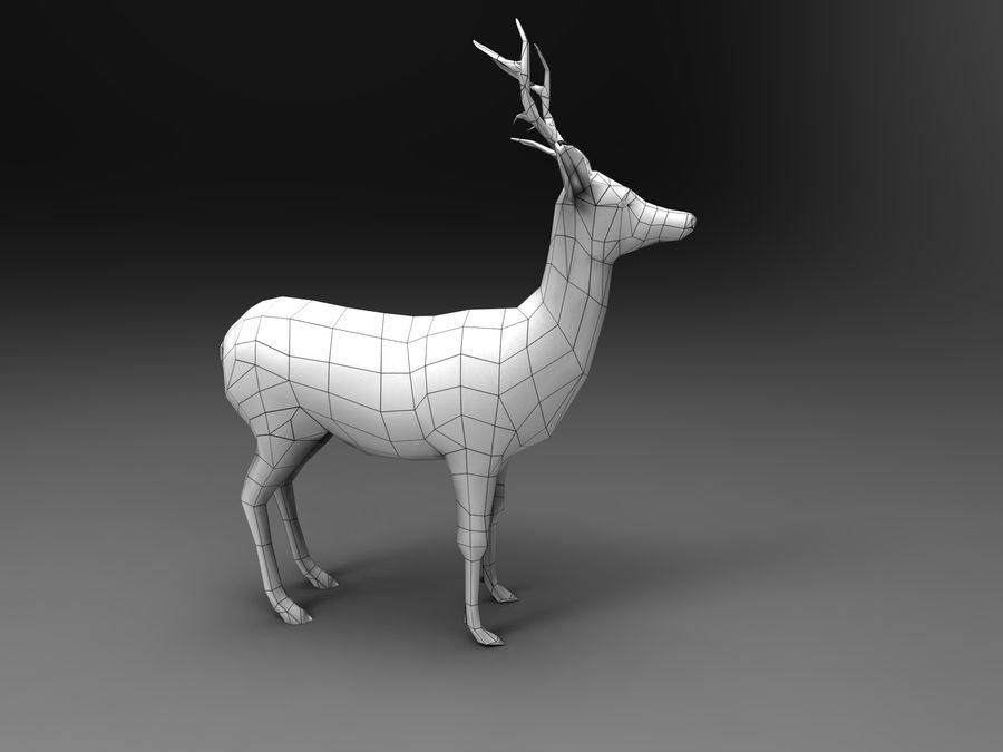 Hirsch royalty-free 3d model - Preview no. 19