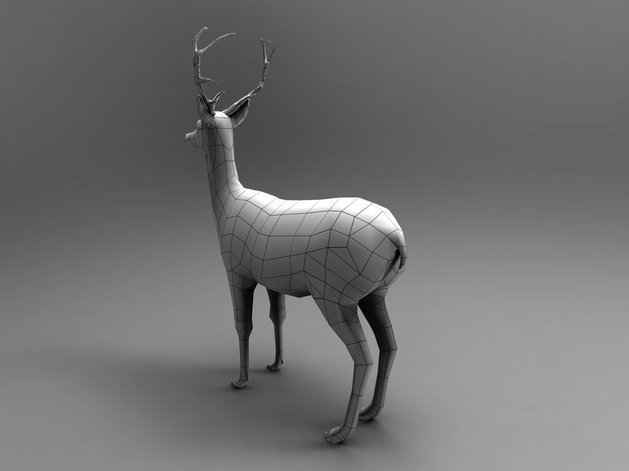 Hirsch royalty-free 3d model - Preview no. 16