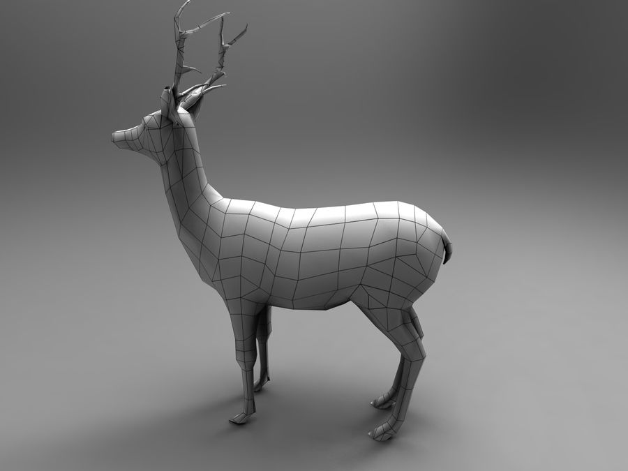 Hirsch royalty-free 3d model - Preview no. 15