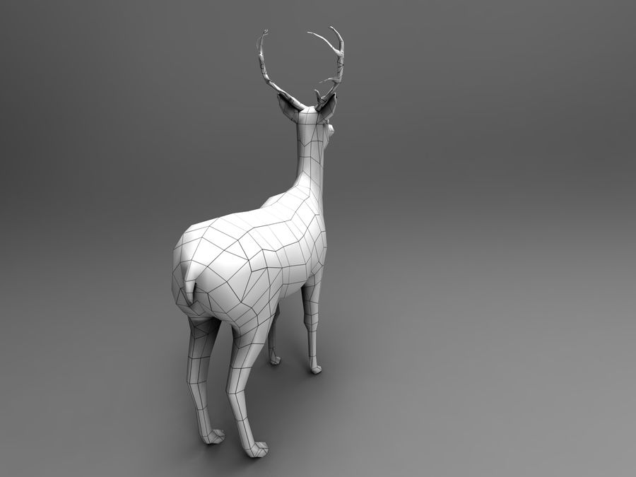 Hirsch royalty-free 3d model - Preview no. 17