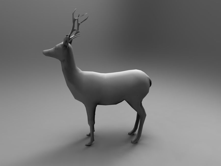 Hirsch royalty-free 3d model - Preview no. 25