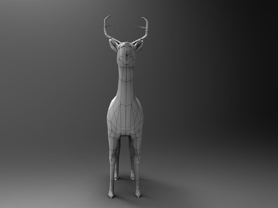 Hirsch royalty-free 3d model - Preview no. 21