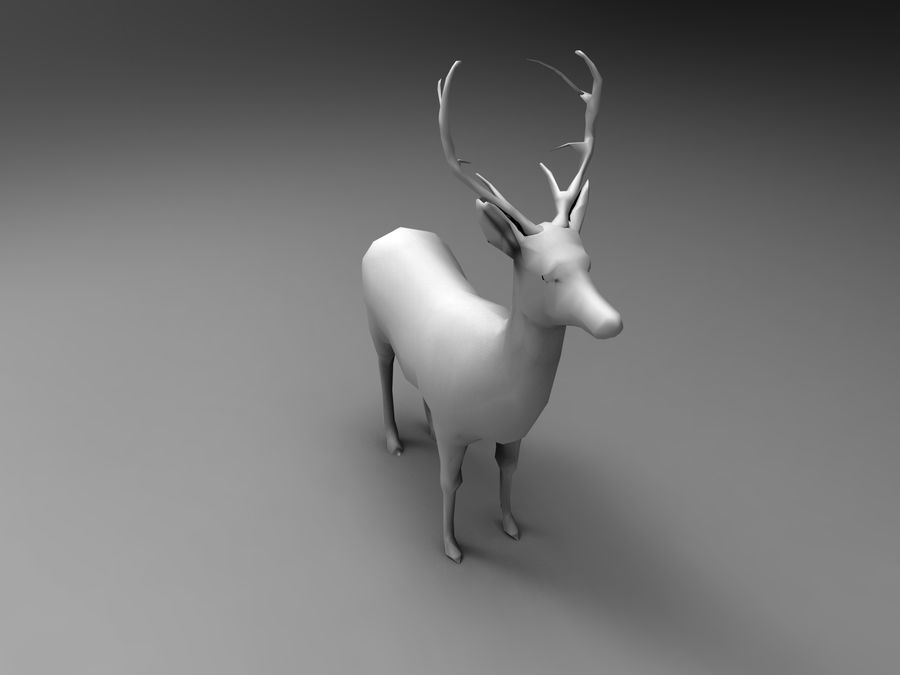 Hirsch royalty-free 3d model - Preview no. 24