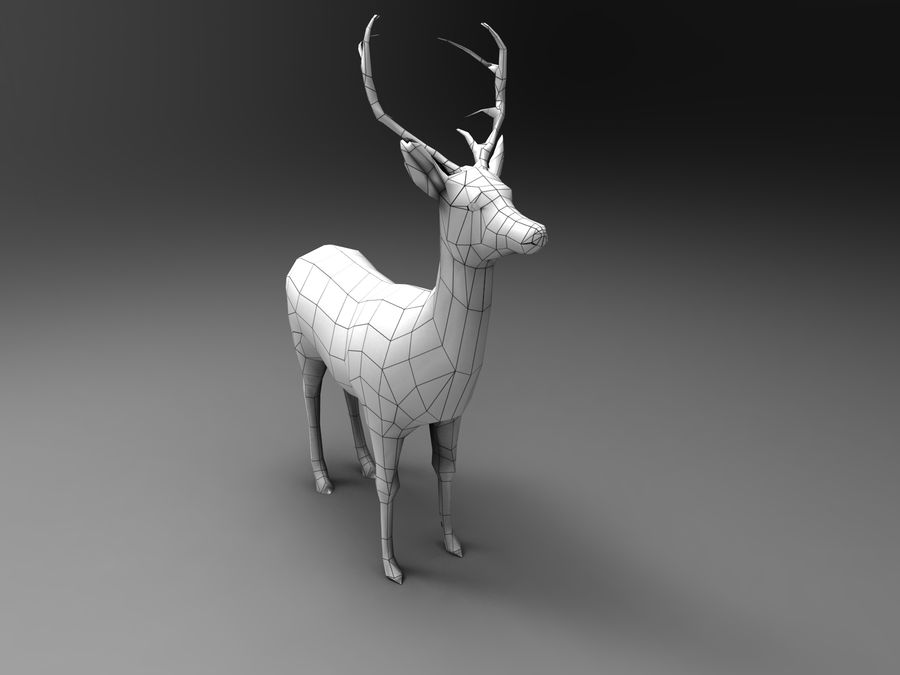 Hirsch royalty-free 3d model - Preview no. 20