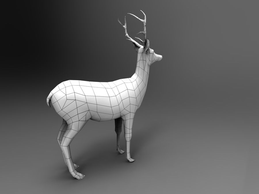 Hirsch royalty-free 3d model - Preview no. 18