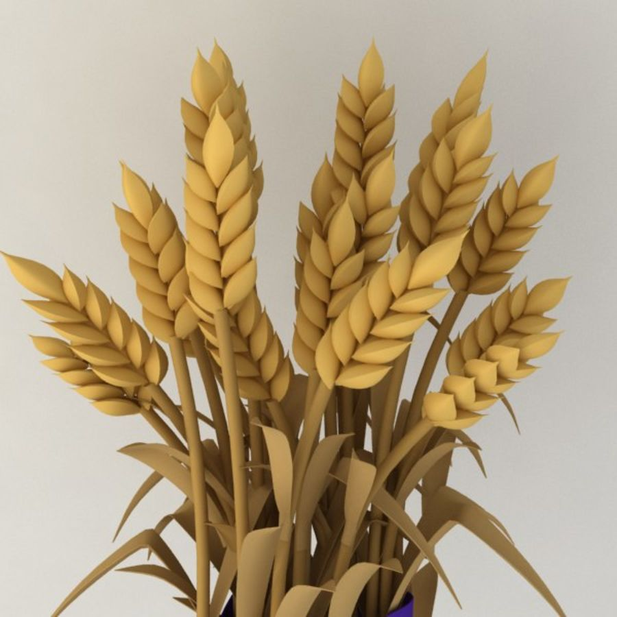 Il grano raccoglie royalty-free 3d model - Preview no. 4