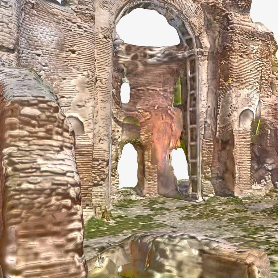 Ruïnes 7 - De rode kerk royalty-free 3d model - Preview no. 6