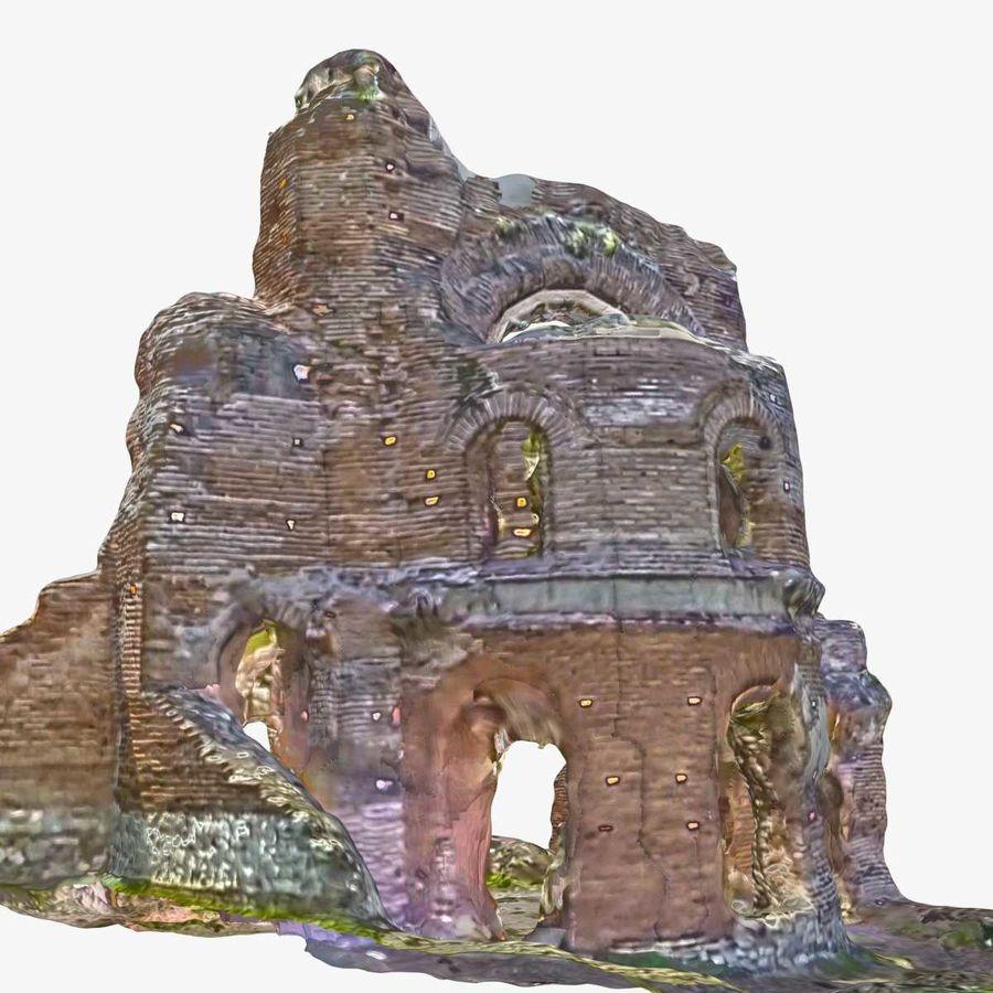 Ruïnes 7 - De rode kerk royalty-free 3d model - Preview no. 3
